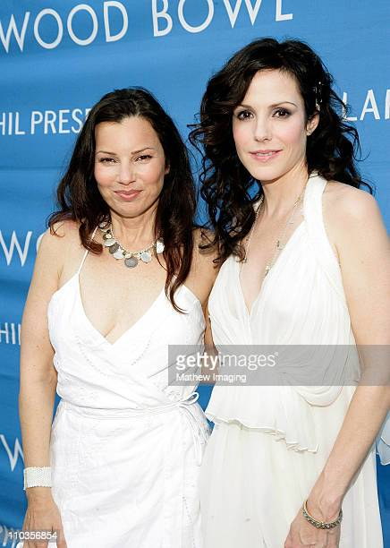 Actresses Fran Drescher and MaryLouise Parker arrive at the Hollywood Bowl Opening Night Gala on June 20 2008 in Hollywood California