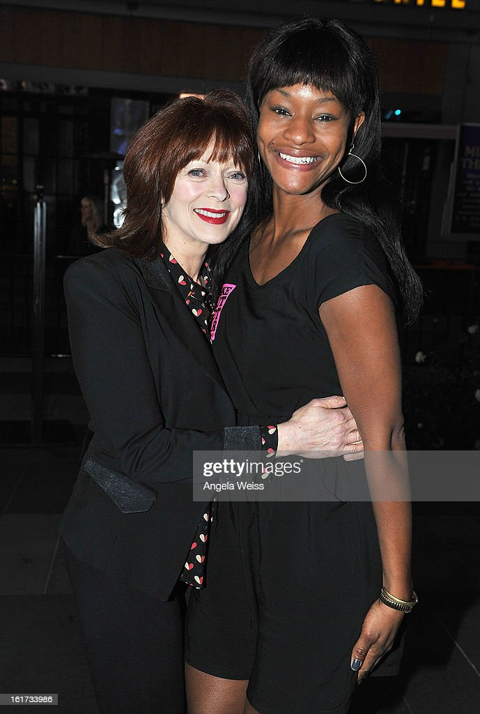 Actresses <a gi-track='captionPersonalityLinkClicked' href=/galleries/search?phrase=Frances+Fisher&family=editorial&specificpeople=211520 ng-click='$event.stopPropagation()'>Frances Fisher</a> and <a gi-track='captionPersonalityLinkClicked' href=/galleries/search?phrase=Sufe+Bradshaw&family=editorial&specificpeople=5855646 ng-click='$event.stopPropagation()'>Sufe Bradshaw</a> attend One Billion Rising-Rise with V-Day and Zumba Fitness, One Billion Rising, a Global Day of Action to End Violence against Women and celebrate V-Day's 15th Anniversary at LA Live on February 14, 2013 in Los Angeles, California.