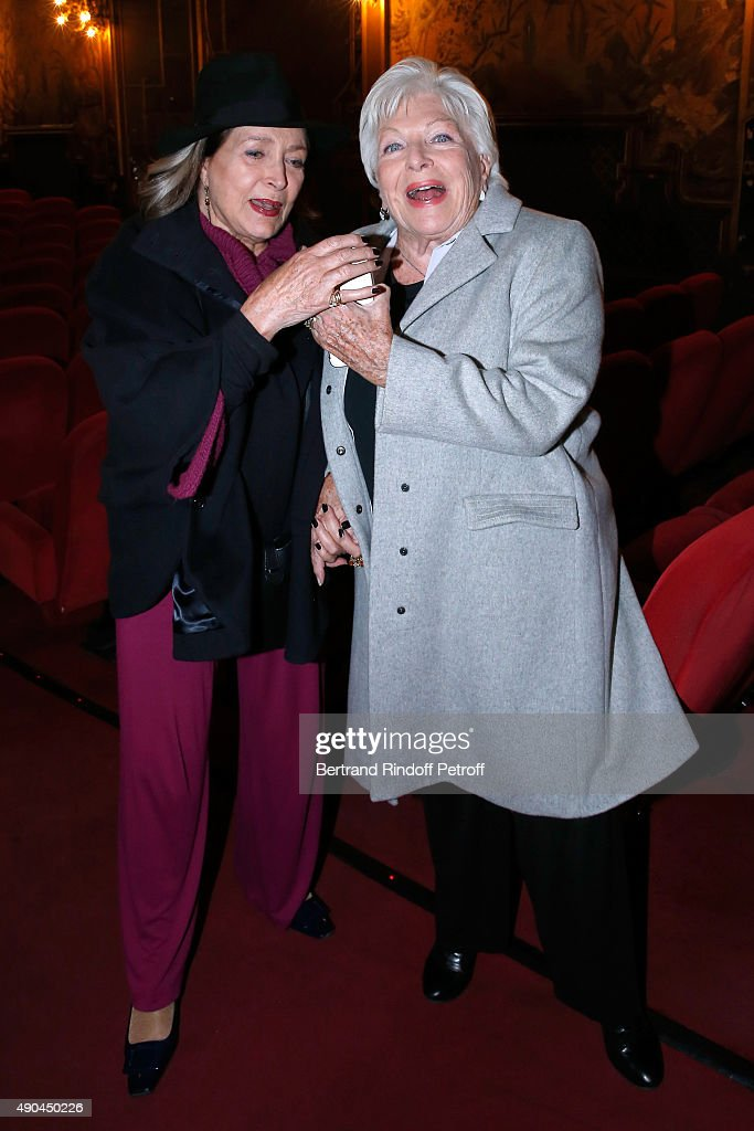 COVERAGE Actresses Francoise Fabian and Line Renaud attend the Private View of the TV Series 'Dix Pour Cent' at Cinema La Pagode on September 28 2015...