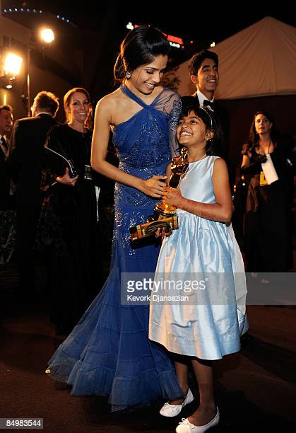 Actresses Freida Pinto and Rubina Ali at the 81st Annual Academy Awards Governor's Ball held at Kodak Theatre on February 22 2009 in Los Angeles...