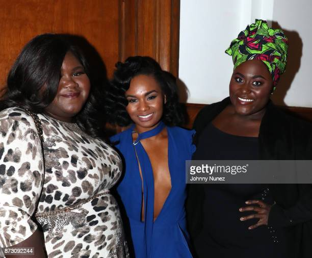Actresses Gabourey Sidibe Chyna Layne and Danielle Brooks attend Netflix Original Series 'She''s Gotta Have It' Premiere and After Party at BAM Rose...