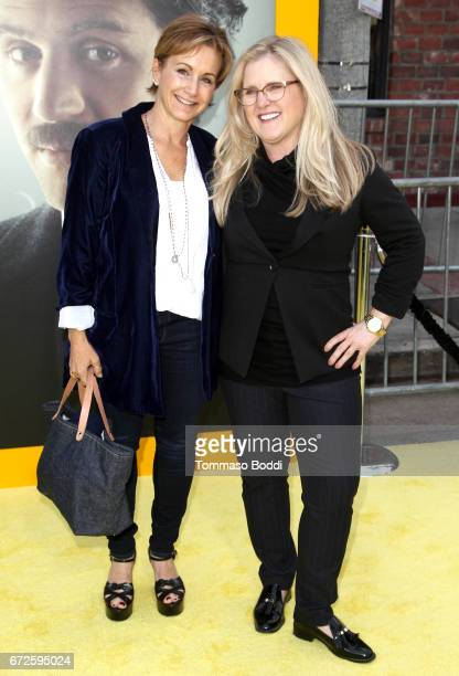 Actresses Gabrielle Carteris and Nancy Cartwright attend the Los Angeles Premiere Screening of National Geographics 'Genius' the Fox Theater on April...
