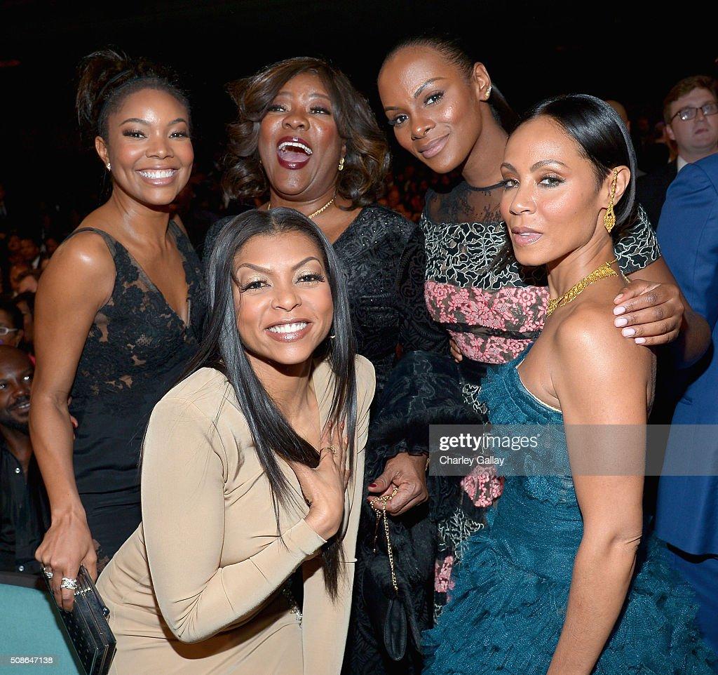Actresses Gabrielle Union Taraji P Henson Loretta Devine Tika Sumpter and Jada Pinkett Smith attend the 47th NAACP Image Awards presented by TV One...