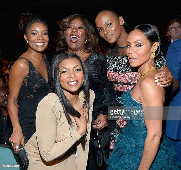 Actresses Gabrielle Union Taraji P Henson Loretta Devine Tika Sumpter and Jada Pinkett Smith attend the 47th NAACP Image Awards presented by TV One...