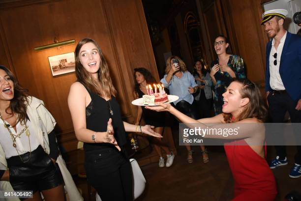 Actresses Gaia Weiss and Morgane Polanski attend the 'Garden Party So British' at Jardin L' Experience on August 31 2017 in Paris France