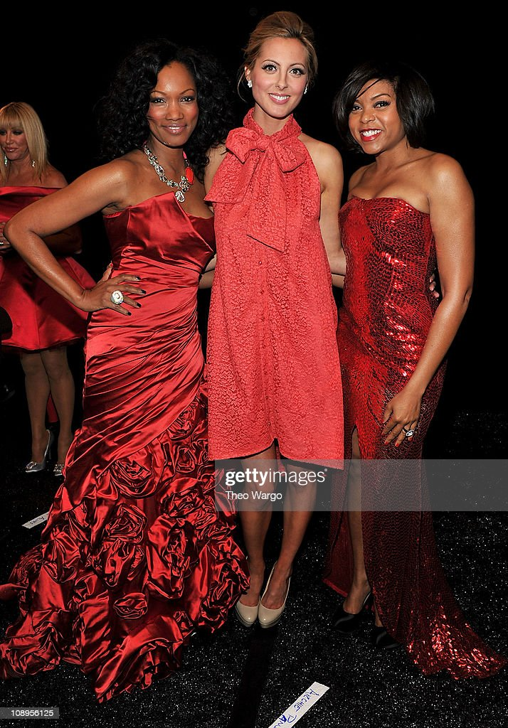 Actresses <a gi-track='captionPersonalityLinkClicked' href=/galleries/search?phrase=Garcelle+Beauvais&family=editorial&specificpeople=203112 ng-click='$event.stopPropagation()'>Garcelle Beauvais</a>, <a gi-track='captionPersonalityLinkClicked' href=/galleries/search?phrase=Eva+Amurri&family=editorial&specificpeople=213733 ng-click='$event.stopPropagation()'>Eva Amurri</a> and <a gi-track='captionPersonalityLinkClicked' href=/galleries/search?phrase=Taraji+P.+Henson&family=editorial&specificpeople=208823 ng-click='$event.stopPropagation()'>Taraji P. Henson</a> attend the Heart Truth's Red Dress Collection 2011 during Mecerdes-Benz fashion week at The Theatre at Lincoln Center on February 9, 2011 in New York City.