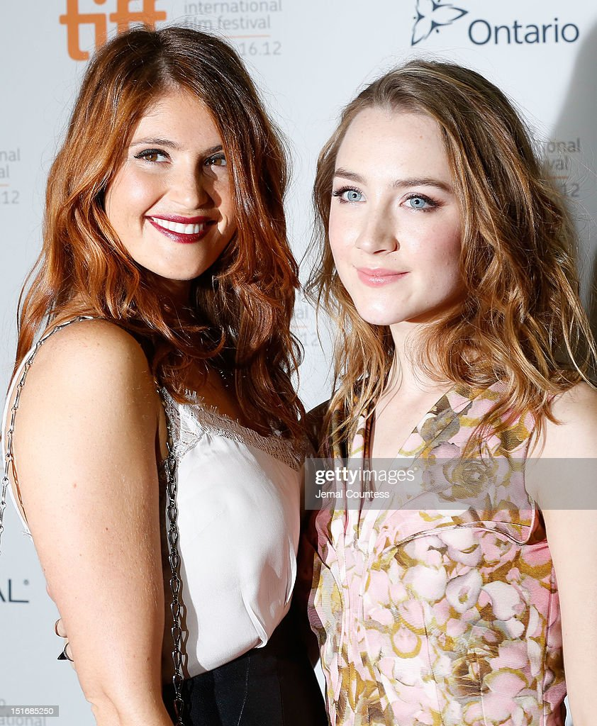 Actresses Gemma Arterton (L) and Saoirse Ronan attend the 'Byzantium' premiere during the 2012 Toronto International Film Festival at Ryerson Theatre on September 9, 2012 in Toronto, Canada.