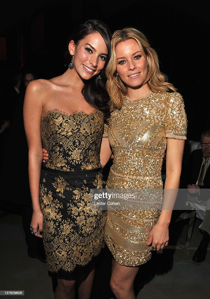 Actresses Genesis Rodriguez and Elizabeth Banks attend the after party for the Los Angeles premiere of 'Man on a Ledge' at Grauman's Chinese Theatre...