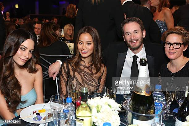 Actresses Genesis Rodriguez and Jamie Chung director Chris Williams and guest attend the 20th annual Critics' Choice Movie Awards at the Hollywood...