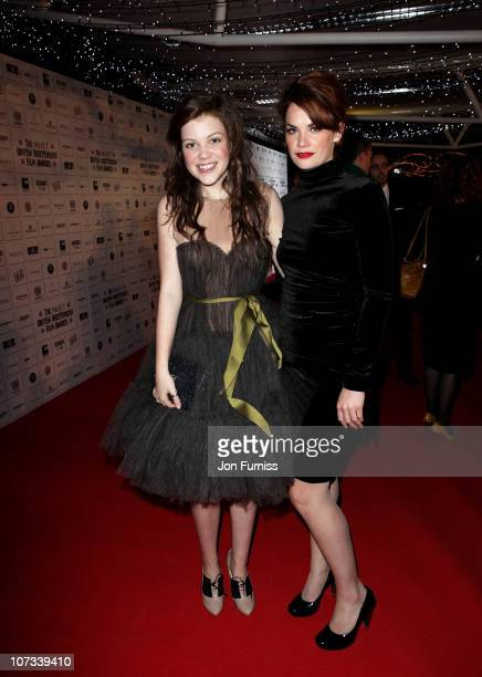 Actresses Georgie Henley and Ruth Wilson attend the Moet British Independent Film Awards at Old Billingsgate Market on December 5 2010 in London...