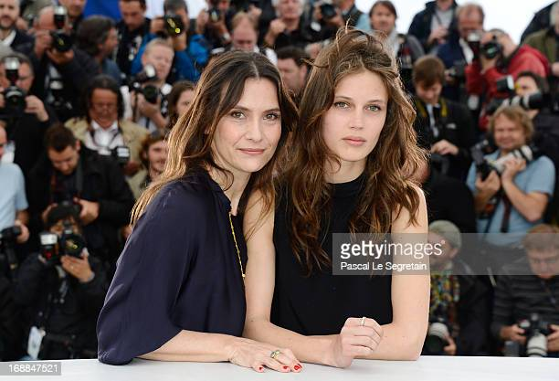 Actresses Geraldine Pailha amd Marine Vacth attend the 'Jeune Jolie' Photocall during the 66th Annual Cannes Film Festival at the Palais des...