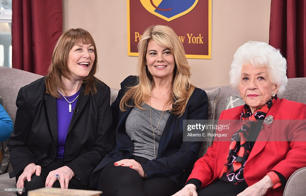 Actresses Geri Jewell, Lisa Whelchel and Charlotte Rae attend Hallmark's Home and Family 'Facts Of Life Reunion' at Universal Studios Backlot on February 12, 2016 in Universal City, California.