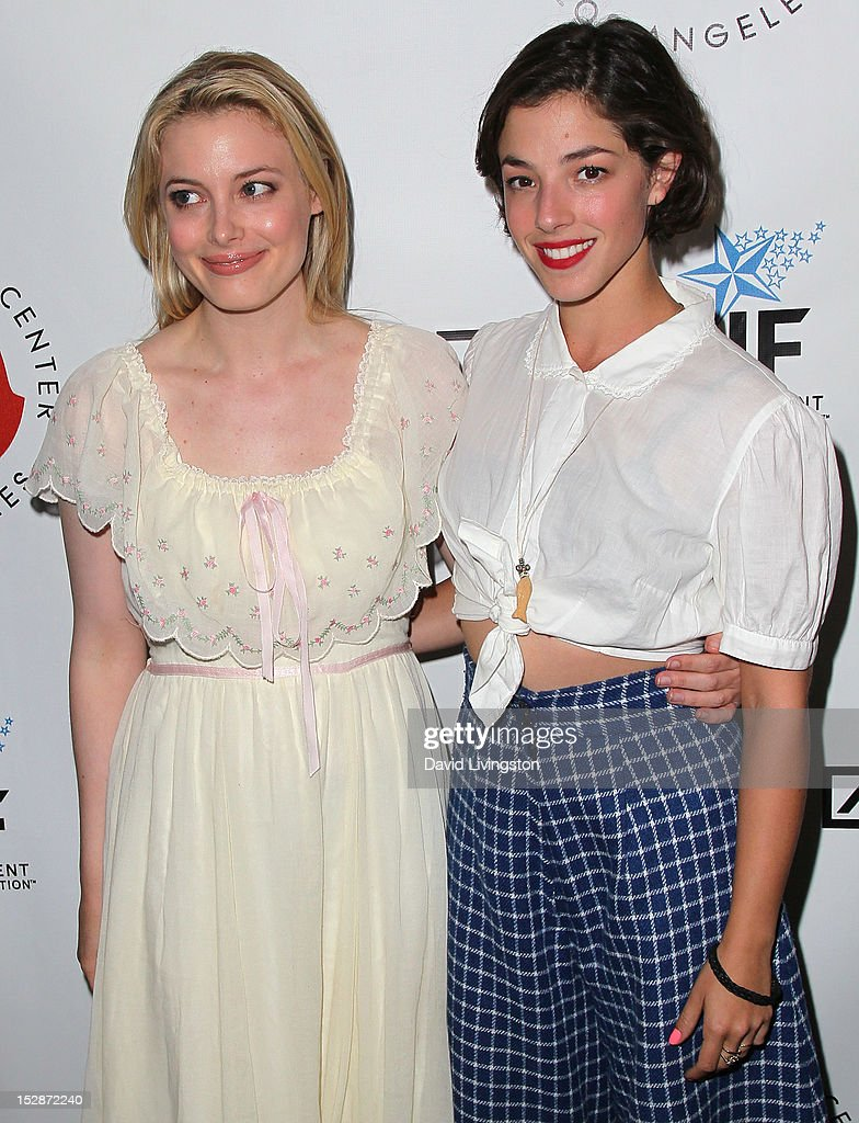 Actresses Gillian Jacobs (L) and Olivia Thirlby attend the Shakespeare Center of Los Angeles' 22nd Annual 'Simply Shakespeare' at the Freud Playhouse, UCLA on September 27, 2012 in Westwood, California.