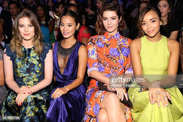 Actresses Gillian Jacobs Jamie Chung Mary Elizabeth Winstead and Ashley Madekwe attend Monique Lhuillier Spring 2016 during New York Fashion Week The...