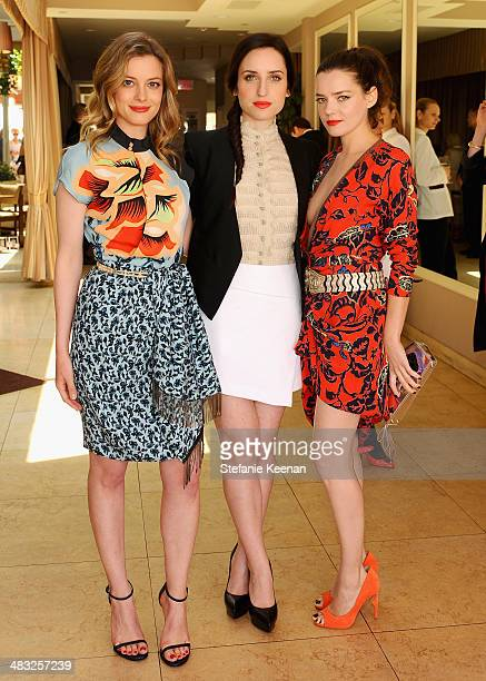 Actresses Gillian Jacobs Zoe ListerJones and Roxane Mesquida attend Vogue Lunch In Celebration Of The Etro Spring Collection Hosted By Sally Singer...