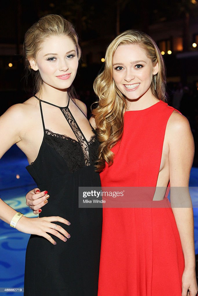 Actresses Ginny Gardner (L) and <a gi-track='captionPersonalityLinkClicked' href=/galleries/search?phrase=Greer+Grammer&family=editorial&specificpeople=4524282 ng-click='$event.stopPropagation()'>Greer Grammer</a> attends the Nylon + BCBGeneration May Young Hollywood Party at Hollywood Roosevelt Hotel on May 8, 2014 in Hollywood, California.
