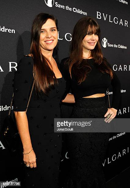 Actresses Gisella Marengo and Lucila Sola attend BVLGARI and Save The Children STOP THINK GIVE PreOscar Event at Spago on February 17 2015 in Beverly...