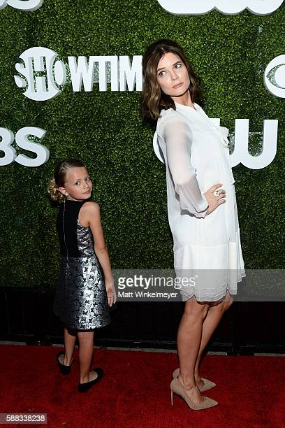 Actresses Giselle Eisenberg and Betsy Brandt arrive at the CBS CW Showtime Summer TCA Party at Pacific Design Center on August 10 2016 in West...