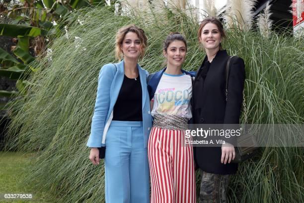 Actresses Giusy Buscemi Alessandra Mastronardi and Diana Del Bufalo attend a photocall for 'C'Era Una Volta Studio 1' at Rai Viale Mazzini on...