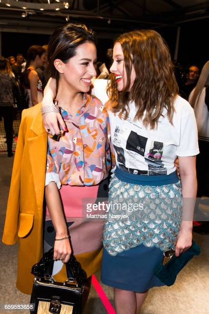 Actresses Gizem Emre and Jella Haase attend the BIDI BADU by Kilian Kerner presentation at Ellington Hotel on March 28 2017 in Berlin Germany