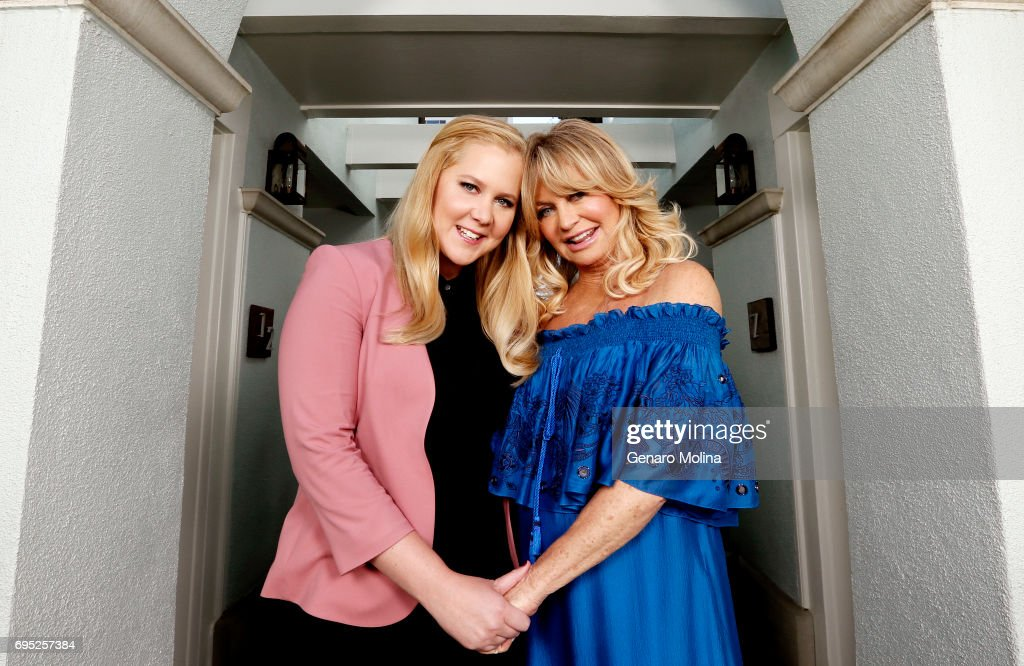 Actresses Goldie Hawn and Amy Schumer are photographed for Los Angeles Times on April 20, 2017 in Santa Monica, California. PUBLISHED IMAGE.