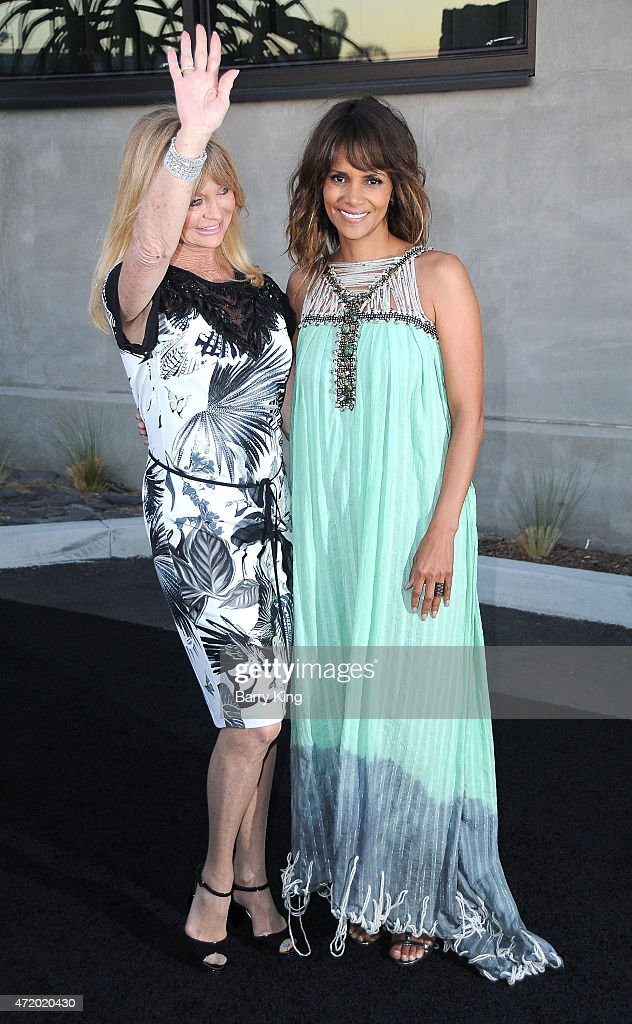 Actresses Goldie Hawn and Halle Berry arrive at Mattel Children's Hospital UCLA Kaleidoscope Ball at 3LABS on May 2, 2015 in Culver City, California.