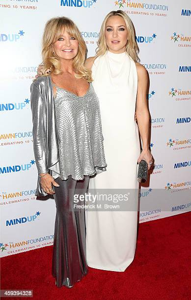 Actresses Goldie Hawn and Kate Hudson attend Goldie Hawn's Inaugural 'Love In For Kids' Benefiting The Hawn Foundation's MindUp Program at Ron...