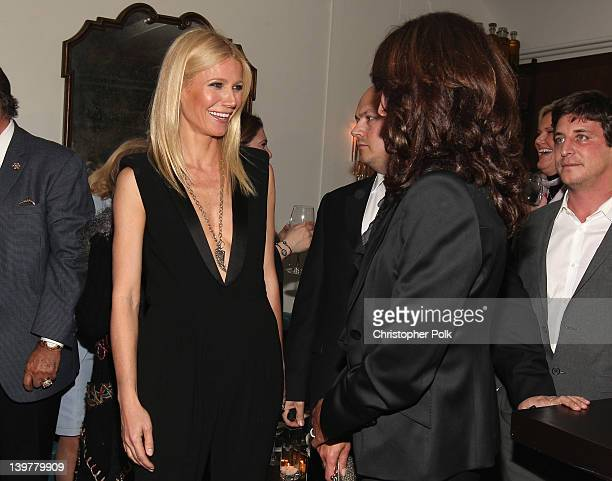 Actresses Gwyneth Paltrow and Jennifer Beals attend the Fifth Annual Women In Film PreOscar Cocktail Party at Cecconi's Restaurant on February 24...
