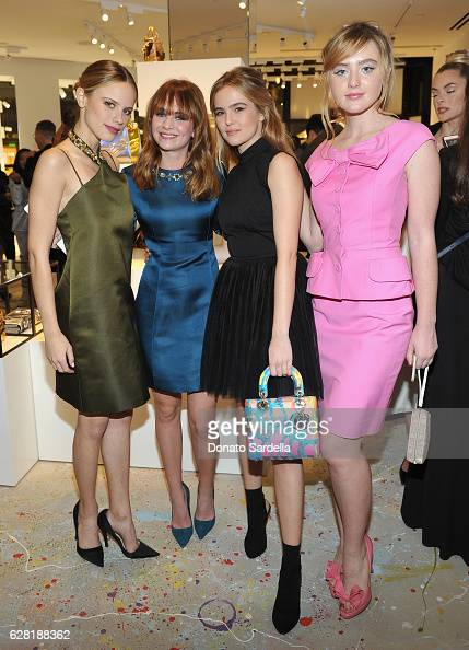 Actresses Halston Sage Britt Robertson Zoey Deutch and Kathryn Newton attend Dior Lady Art Los Angeles Popup Boutique Opening Event on December 6...