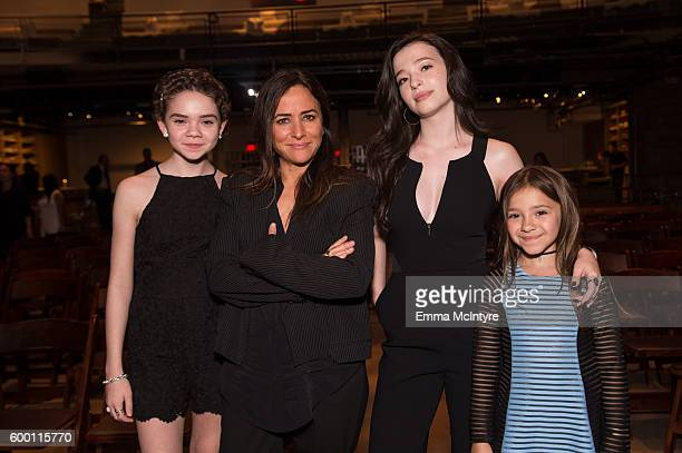 Actresses Hannah Alligood Pamela Adlon Mikey Madison and Olivia Edward attend the premiere of 'Better Things' at NeueHouse Hollywood on September 7...