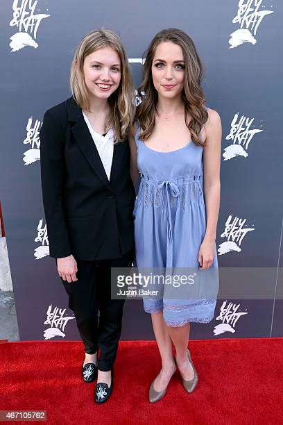 Actresses Hannah Murray and Jessica Rothe attend the Los Angeles Premiere of 'Lily Kat' at the Vista Theatre on March 20 2015 in Los Angeles...