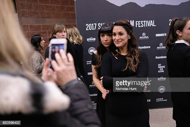 Actresses Hannah Simone and Angelique Cabral attend the 'Band Aid' Premiere at Eccles Center Theatre on January 24 2017 in Park City Utah