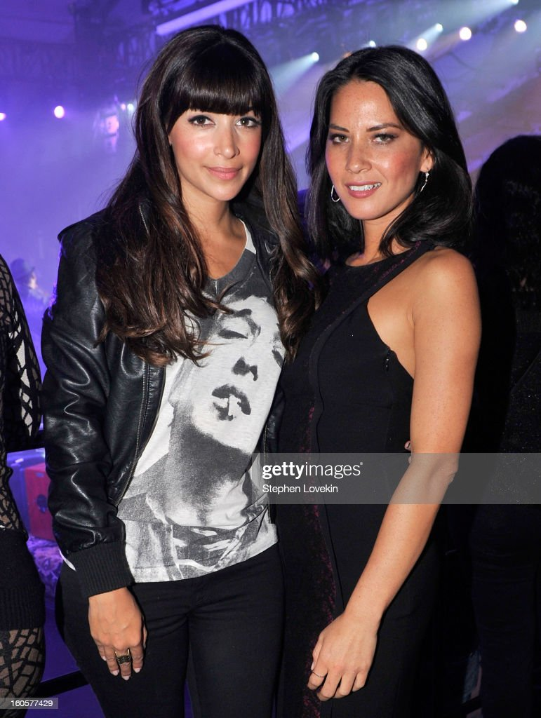 Actresses <a gi-track='captionPersonalityLinkClicked' href=/galleries/search?phrase=Hannah+Simone&family=editorial&specificpeople=3291351 ng-click='$event.stopPropagation()'>Hannah Simone</a> (L) and <a gi-track='captionPersonalityLinkClicked' href=/galleries/search?phrase=Olivia+Munn&family=editorial&specificpeople=598969 ng-click='$event.stopPropagation()'>Olivia Munn</a> attend Bud Light Presents Stevie Wonder and Gary Clark Jr. at the Bud Light Hotel on February 2, 2013 in New Orleans, Louisiana.