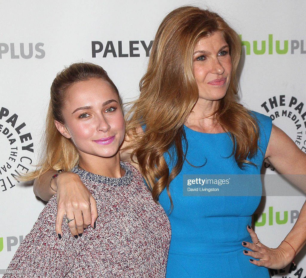 Actresses Hayden Panettiere (L) and Connie Britton attend The Paley Center For Media's PaleyFest 2013 honoring 'Nashville' at the Saban Theatre on March 9, 2013 in Beverly Hills, California.
