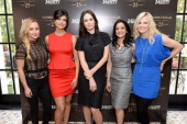 Actresses Hayden Panettiere Morena Baccarin Emily Mortimer Archie Panjabi and Monica Potter attend the Variety Emmy Studio at Palihouse on May 30...