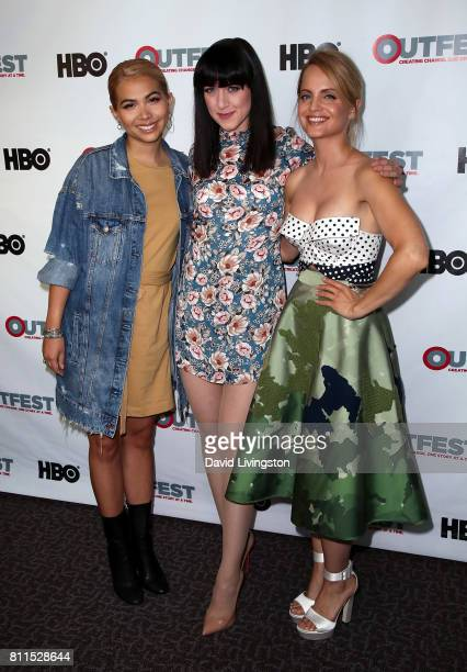 Actresses Hayley Kiyoko Lena Hall and Mena Suvari attend the 2017 Outfest Los Angeles LGBT Film Festival centerpiece screening of 'Becks' at the DGA...