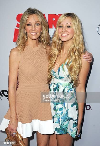 Actresses Heather Locklear and Ava Sambora arrive at the 'Scary Movie V' Los Angeles premiere at ArcLight Cinemas Cinerama Dome on April 11 2013 in...