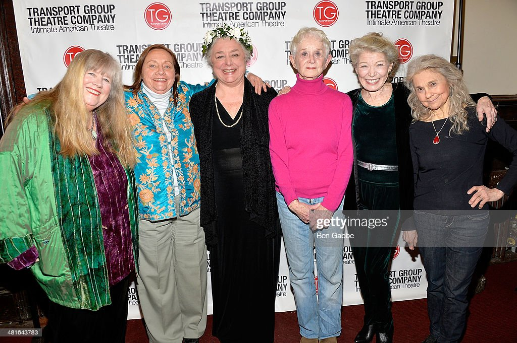 Actresses Heather MacRae, Dale Soules, Barbara Andres, Barbara Barrie, Phyllis Somerville and Lynn Cohen attend 'I Remember Mama' Opening Night at The Gym at Judson on March 30, 2014 in New York City.