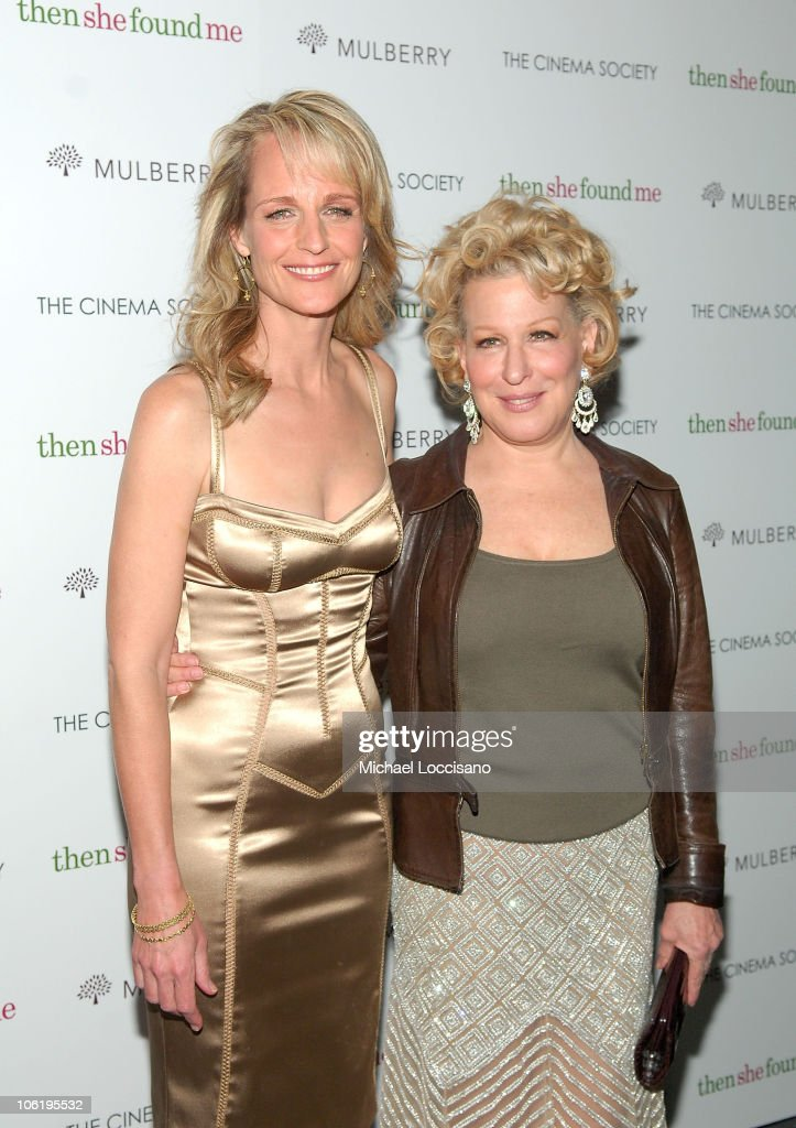 Actresses Helen Hunt and Bette Midler attend the New York premiere of 'Then She Found Me' hosted by The Cinema Society and Mulberry at AMC Lincoln...