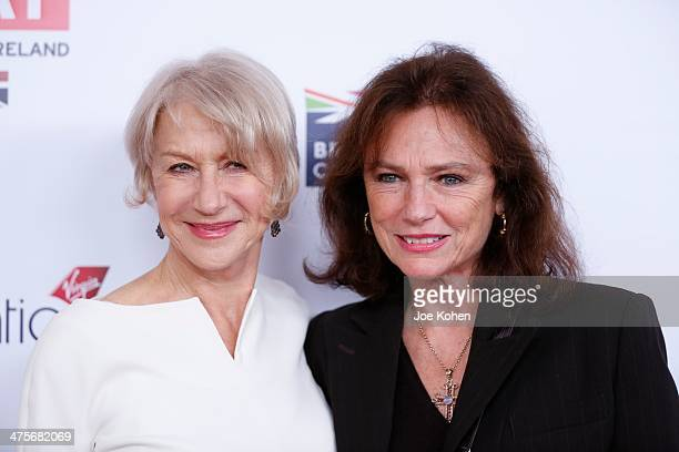 Actresses Helen Mirren and Jacqueline Bisset attend the GREAT British Film Reception Honoring The British Nominees Of The 86th Annual Academy Awards...