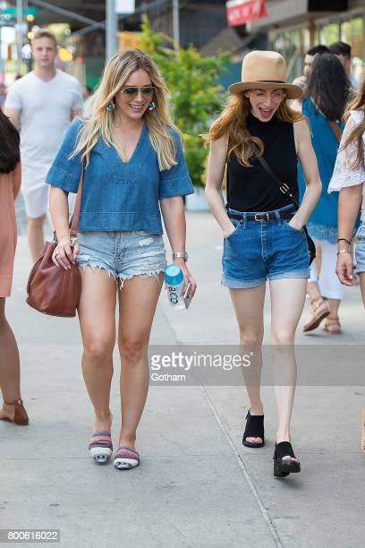 Actresses Hilary Duff and Molly Bernard are seen in SoHo on June 24 2017 in New York City