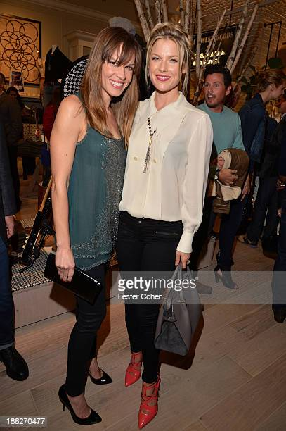 Actresses Hilary Swank and Ali Larter attends the Lucky Brand Beverly Hills store opening on October 29 2013 in Beverly Hills California