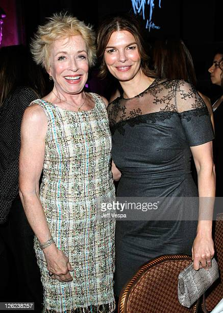 Actresses Holland Taylor and Jeanne Tripplehorn attends the 3rd Annual Variety's Power of Women Event presented by Lifetime at the Beverly Wilshire...