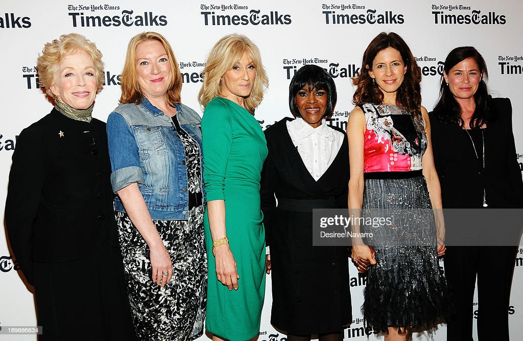 Actresses Holland Taylor Kristine Nielsen Judith Light Cicely Tyson Jessica Hecht and Maura Tierney attend TimesTalks Presents The Leading Women Of...