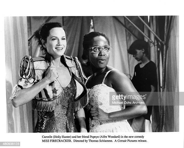 Actresses Holly Hunter and Alfre Woodard in a scene from the movie 'Miss Firecracker ' circa 1989