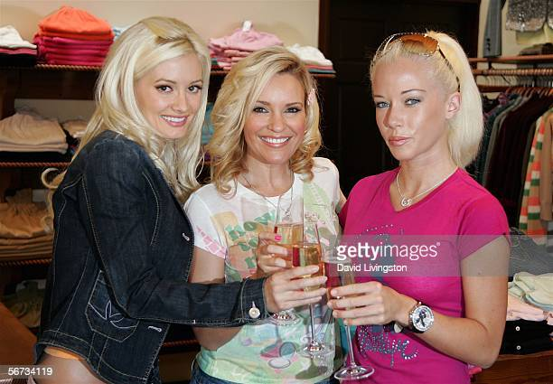 Actresses Holly Madison Bridget Marquardt and Kendra Wilkinson from the E Network show 'The Girls Next Door' attend the grand unveiling of the new...