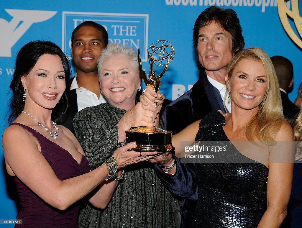 Actresses Hunter Tylo, Susan Flannery and Katherine Kelly Lang of 'The Bold and The Beautiful' pose in the press room at the 36th Annual Daytime Emmy Awards at The Orpheum Theatre on August 30, 2009 in Los Angeles, California.