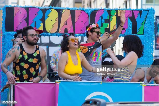 Actresses Ilana Glazer and Abbi Jacobson attend the 2017 New York City Pride March on June 25 2017 in New York City