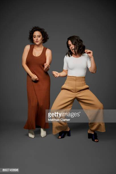 Actresses Ilana Glazer and Abbi Jacobson from Broad City are photographed for Entertainment Weekly Magazine on July 22 2017 at Comic Con in San Diego...