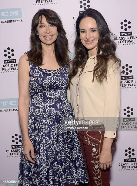 Actresses Illeana Douglas and Madeleine Stowe attend the screening of 'The Philadelphia Story' during day four of the 2015 TCM Classic Film Festival...